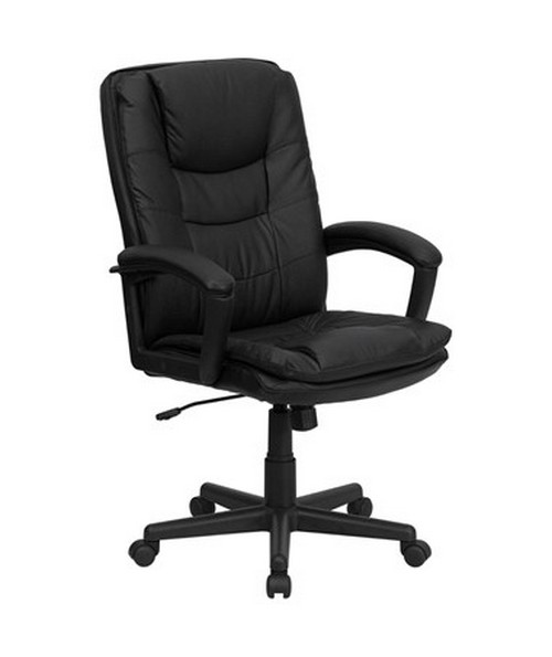 High Back Black Leather Executive Swivel Office Chair [BT-2921-BK-GG] FLFBT-2921-BK-GG