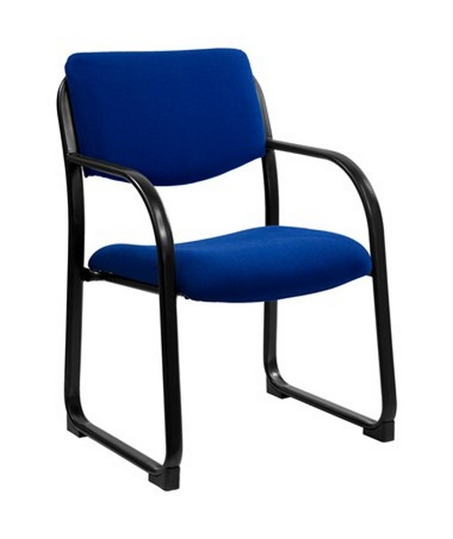 Navy Fabric Executive Side Chair with Sled Base [BT-508-NVY-GG] FLFBT-508-NVY-GG