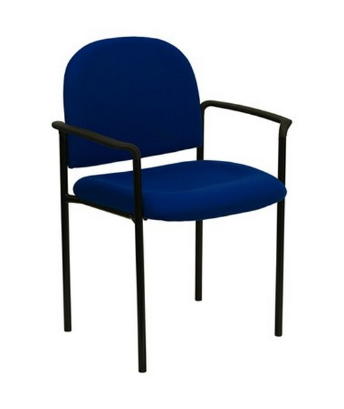 Navy Fabric Comfortable Stackable Steel Side Chair with Arms [BT-516-1-NVY-GG] FLFBT-516-1-NVY-GG