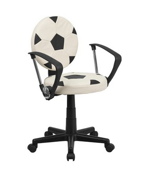Soccer Task Chair with Arms [BT-6177-SOC-A-GG] FLFBT-6177-SOC-A-GG
