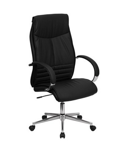 High Back Black Leather Executive Office Chair [BT-9996-BK-GG] FLFBT-9996-BK-GG