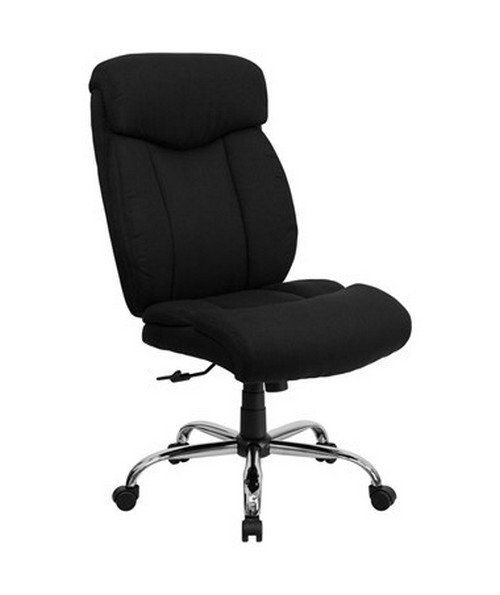HERCULES Series 350 lb. Capacity Big & Tall Black Fabric Office Chair [GO-1235-BK-FAB-GG] FLFGO-1235-BK-FAB-GG