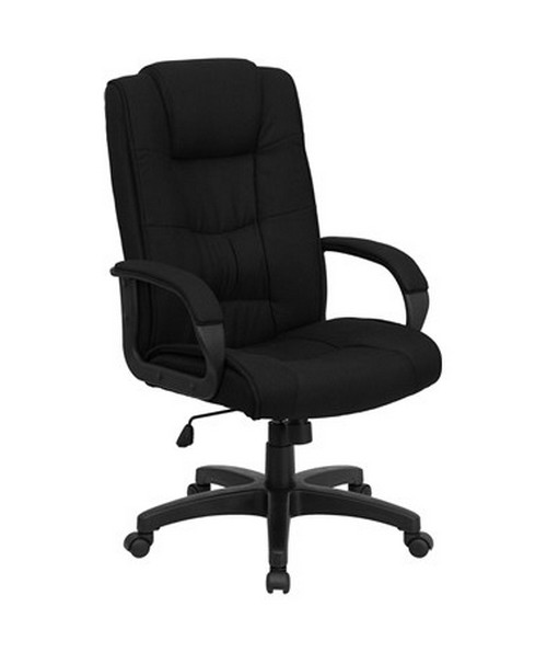 High Back Black Fabric Executive Office Chair [GO-5301B-BK-GG] FLFGO-5301B-BK-GG