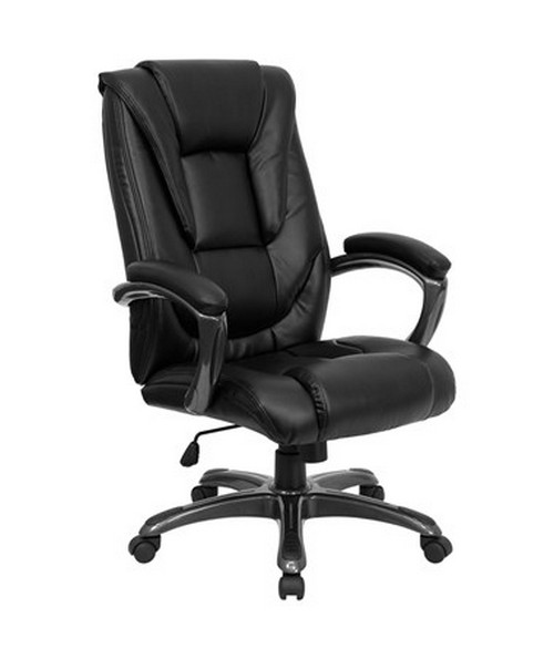 flash furniture high back black leather executive office chair go