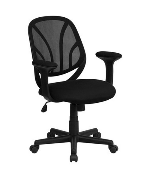 Flash Furniture Y-GO Midback Mesh Chair with Arms GO-WY-05-A-GG