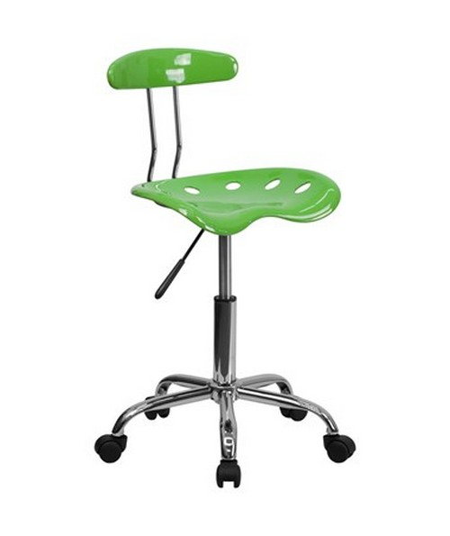 Vibrant Spicy Lime and Chrome Computer Task Chair with Tractor Seat [LF-214-SPICYLIME-GG] FLFLF-214-SPICYLIME-GG