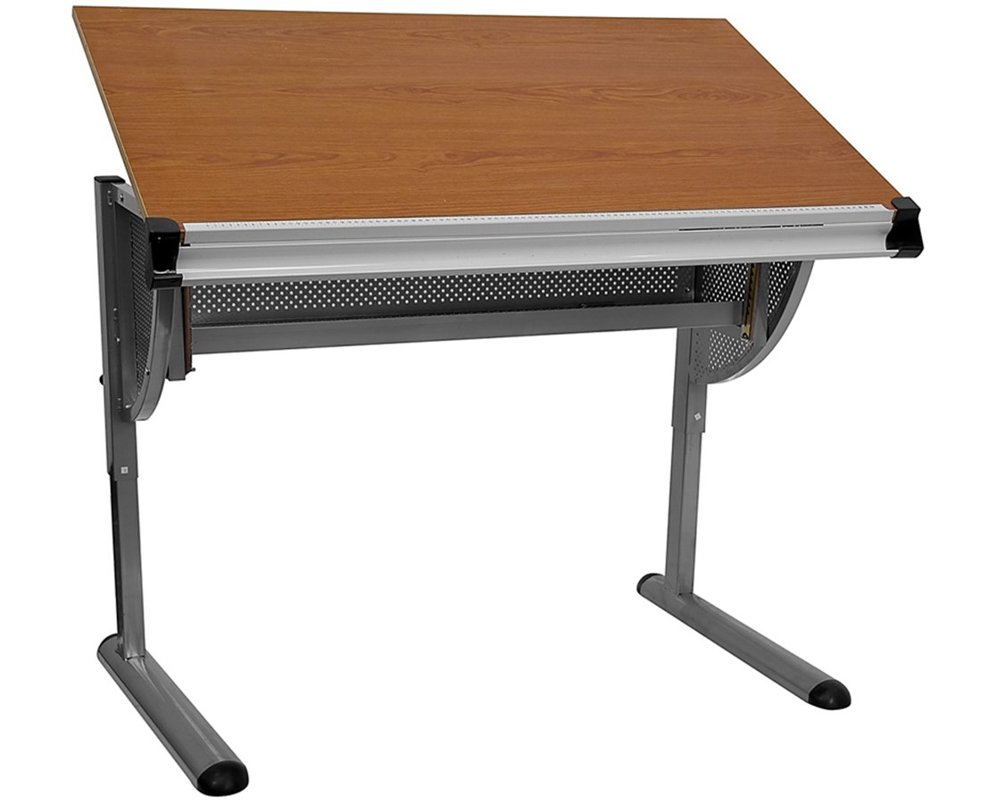 Flash Furniture Drafting Drawing & Drafting Table w/ Pewter Frame FLANAN-JN-2433-GG