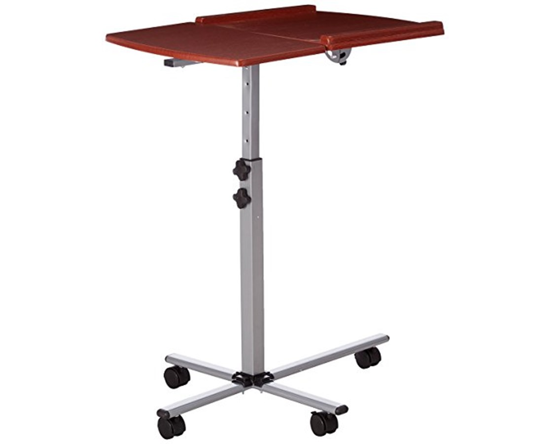 Angle and Height Adjustable Mobile Laptop Computer Table with Cherry Top [NAN-JN-2762-GG] FLFNAN-JN-2762-GG