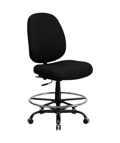 HERCULES Series 400 lb. Capacity Big and Tall Black Fabric Office Chair with Extra WIDE Seat [WL-715MG-BK-GG] FLFWL-715MG-BK-GG