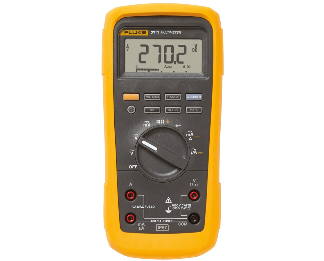 Fluke 20 II Series Industrial Digital Multimeter FLU3307768-