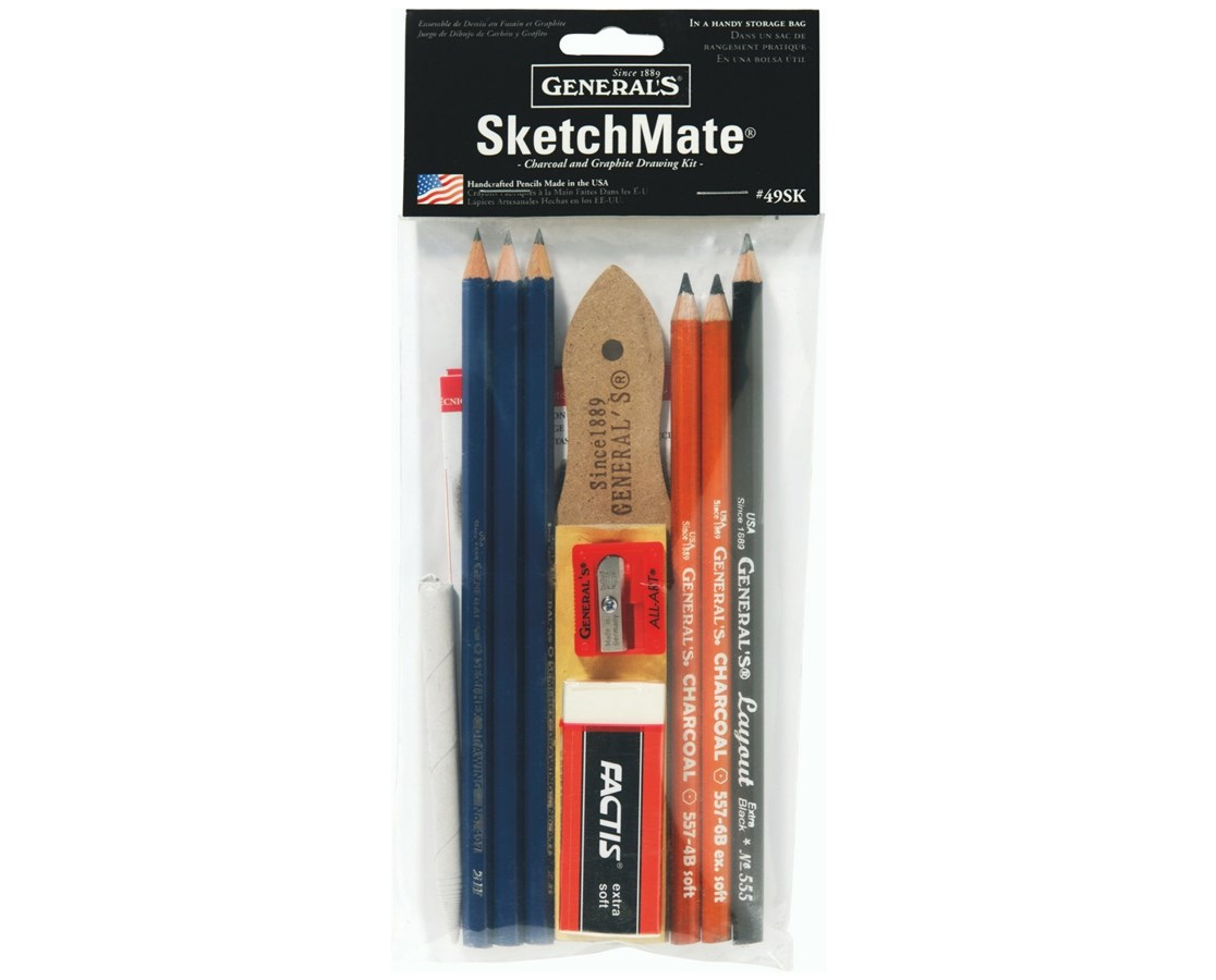 General's SketchMate Charcoal and Graphite Drawing Kit G49SK