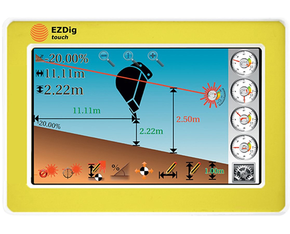 Geomax EzDig Touch Series Excavator Guidance Machine Control System