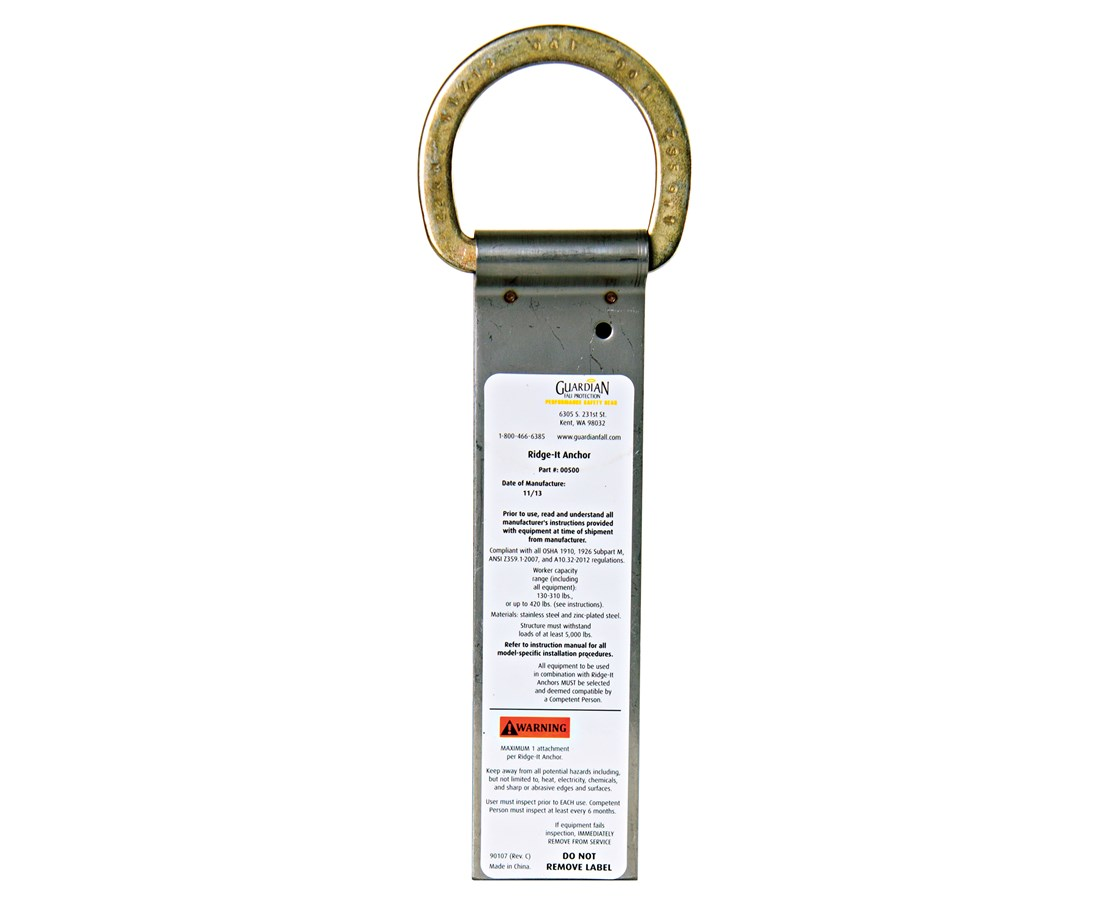 Guardian Fall Protection Ridge-It Anchor GUA00500-