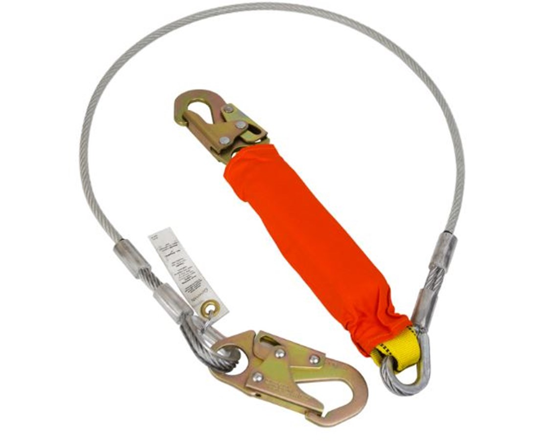 Guardian Fall Protection Coated Cable w/ Flame Resistant Cover Lanyard