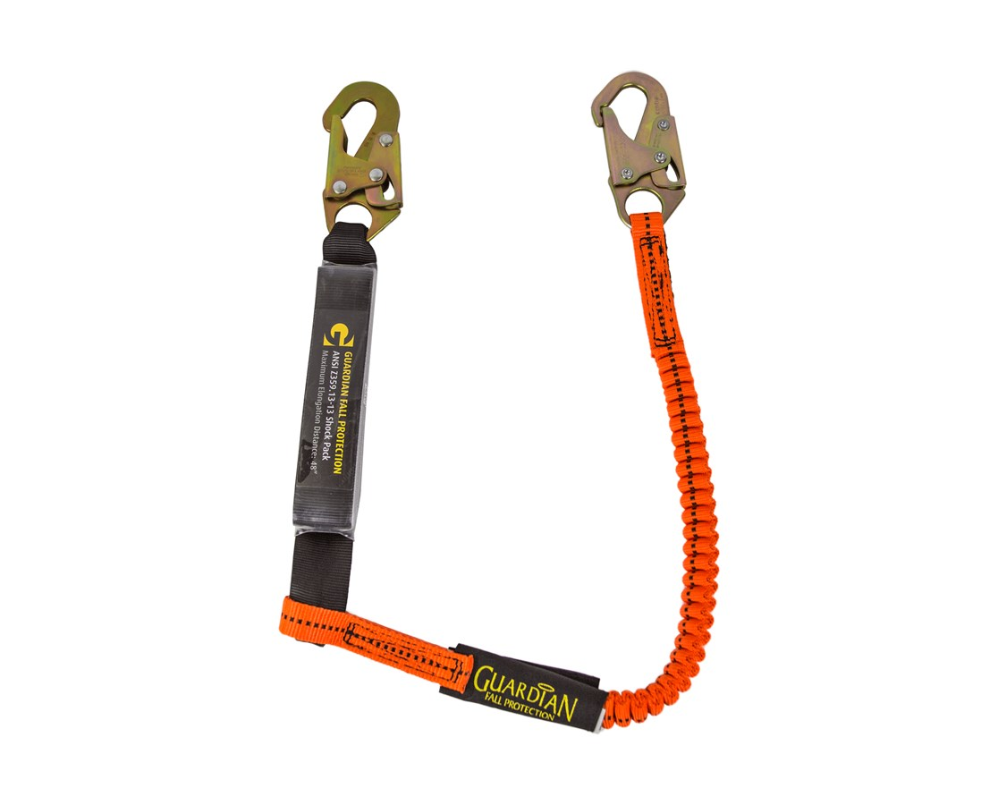 Guardian Fall Protection Bungee Style Tiger Tail Stretch Lanyard