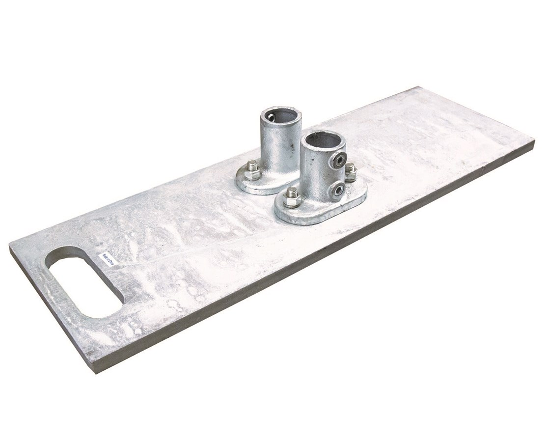 Guardian Fall Protection Guardrail Galvanized Baseplate