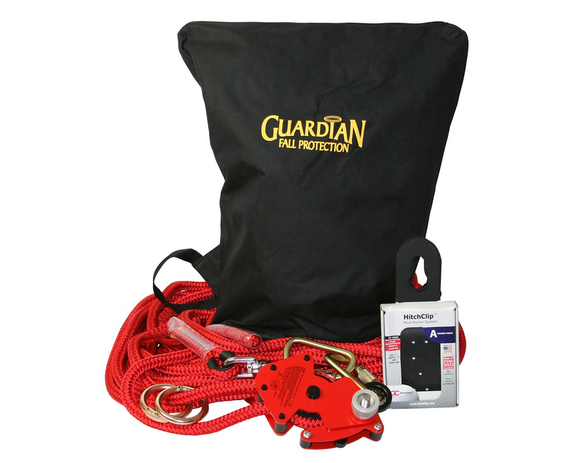 Guardian Fall Protection Big Boss Hitchclip Horizontal Lifeline Kit GUA30812