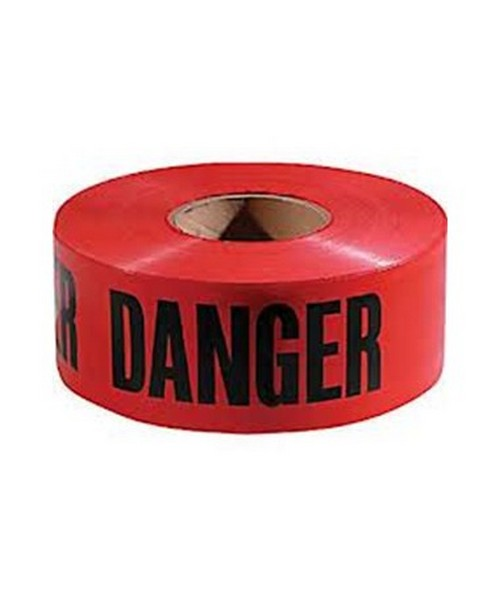 Red Danger Tape 3in  x 1000ft HYGPT-200