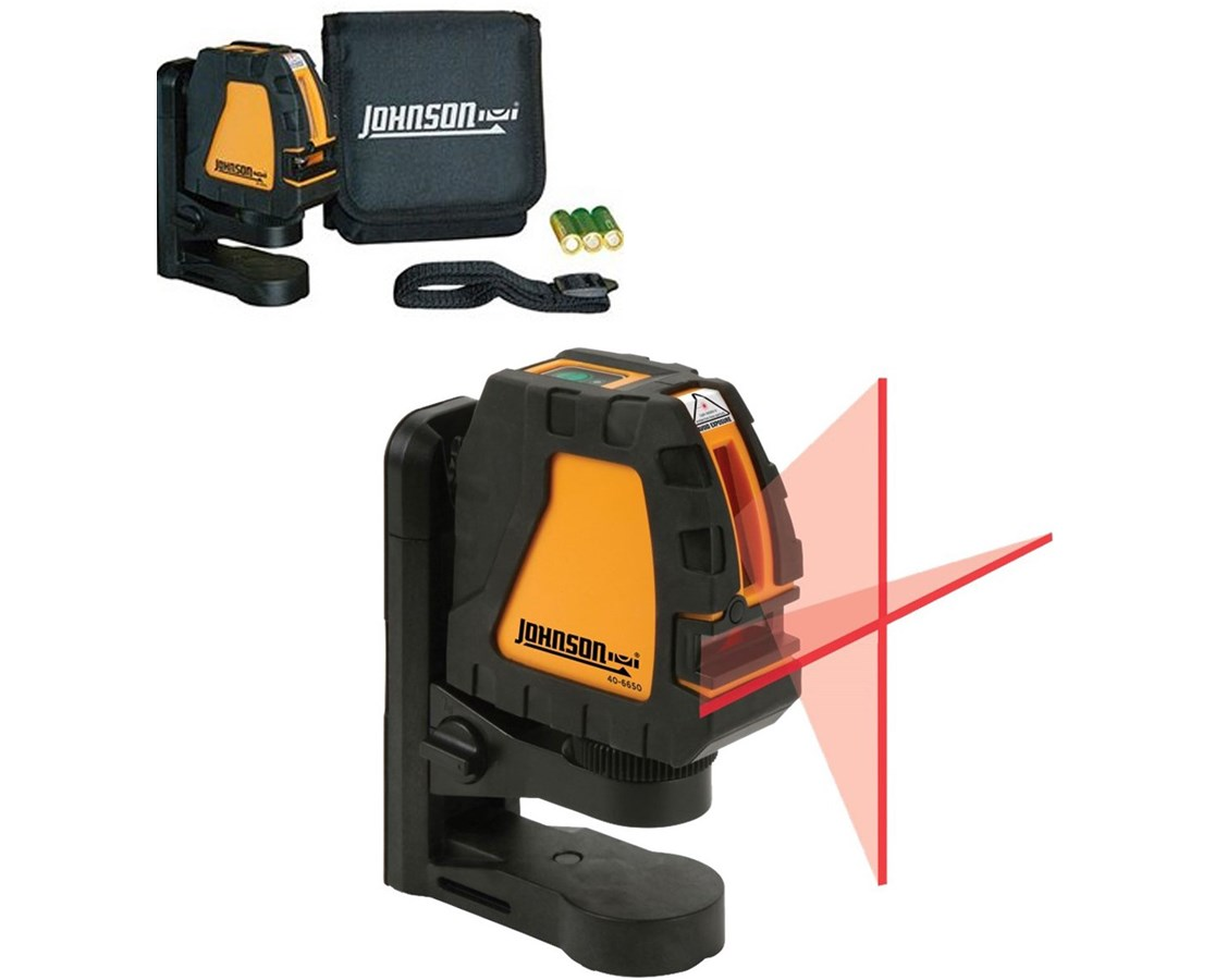 Johnson Self-Leveling Cross Line Laser w/ Elevating Magnetic Bracket JOH-40-6650