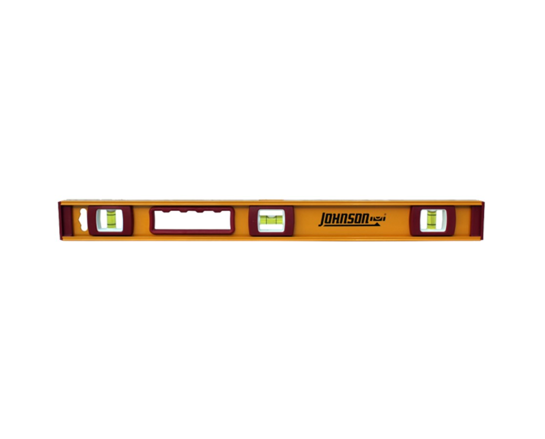 Johnson Heavy Duty I-Beam Aluminum Level JOH1233-2400-