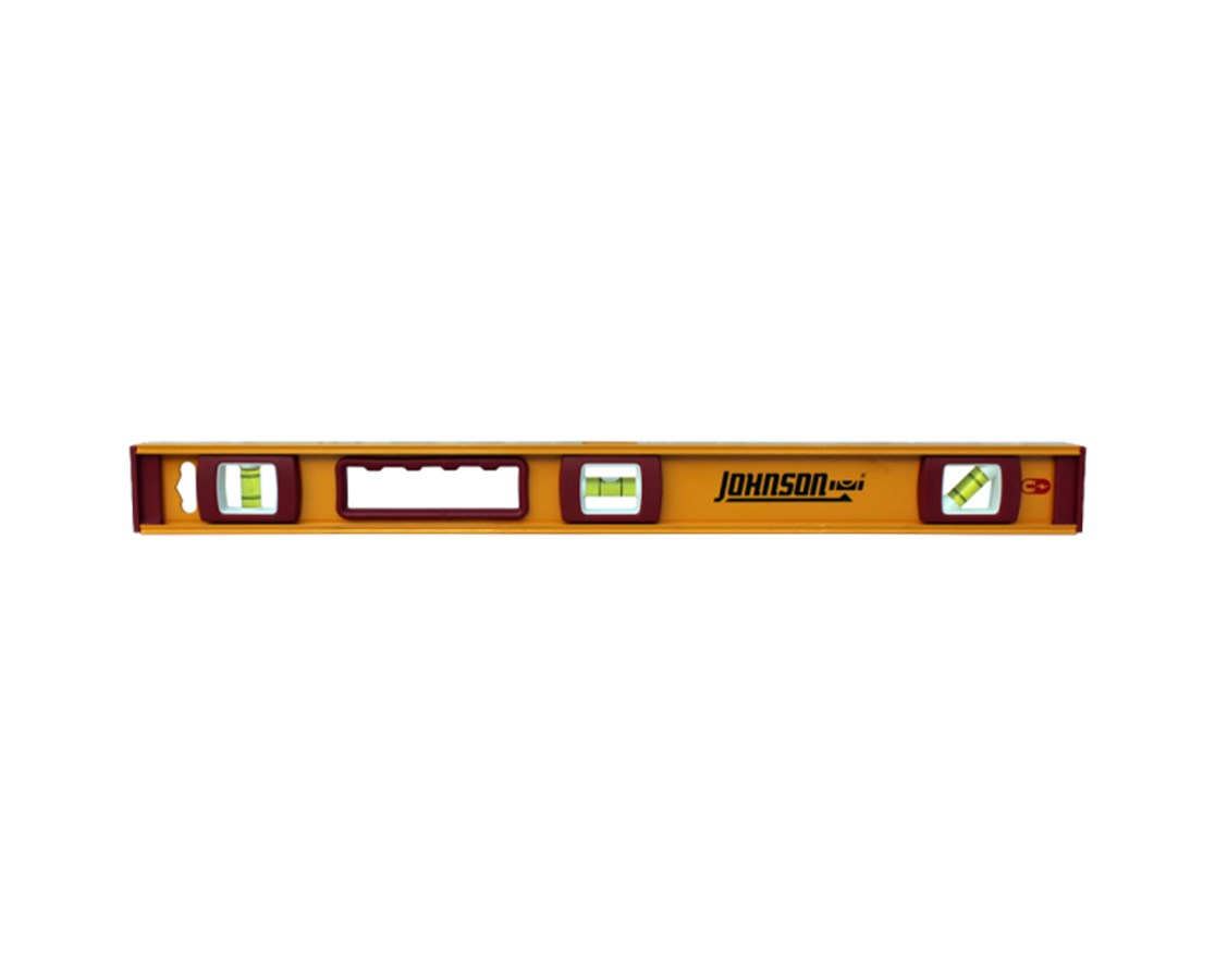 Johnson Heavy Duty Magnetic Edge Aluminum Level JOH1234-2400-