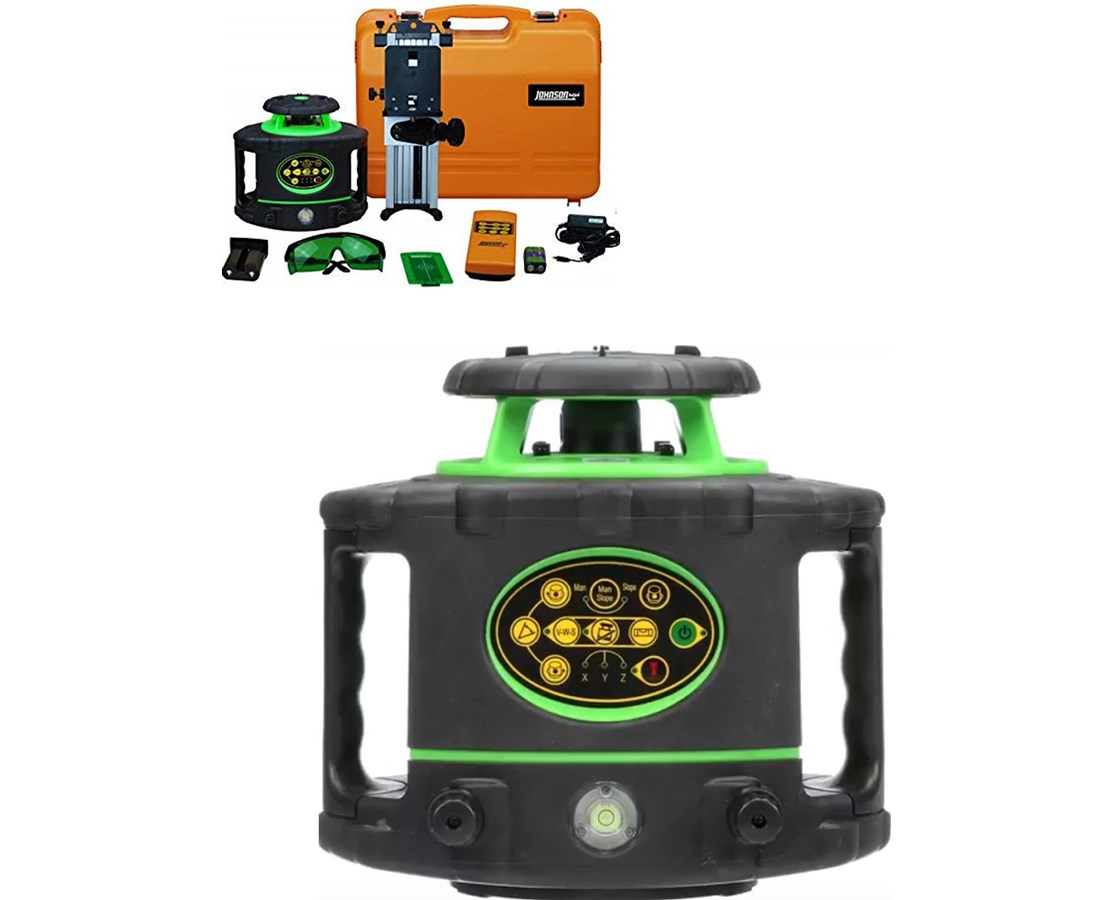 Johnson 40-6546 Green Beam Electronic Self-Leveling Rotary Laser JOH40-6546-