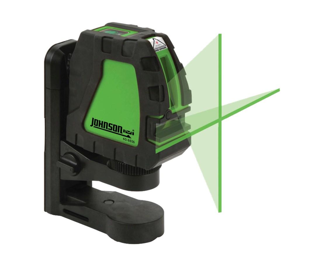40 6656 Johnson Level Cross Line Green Beam Laser Tiger