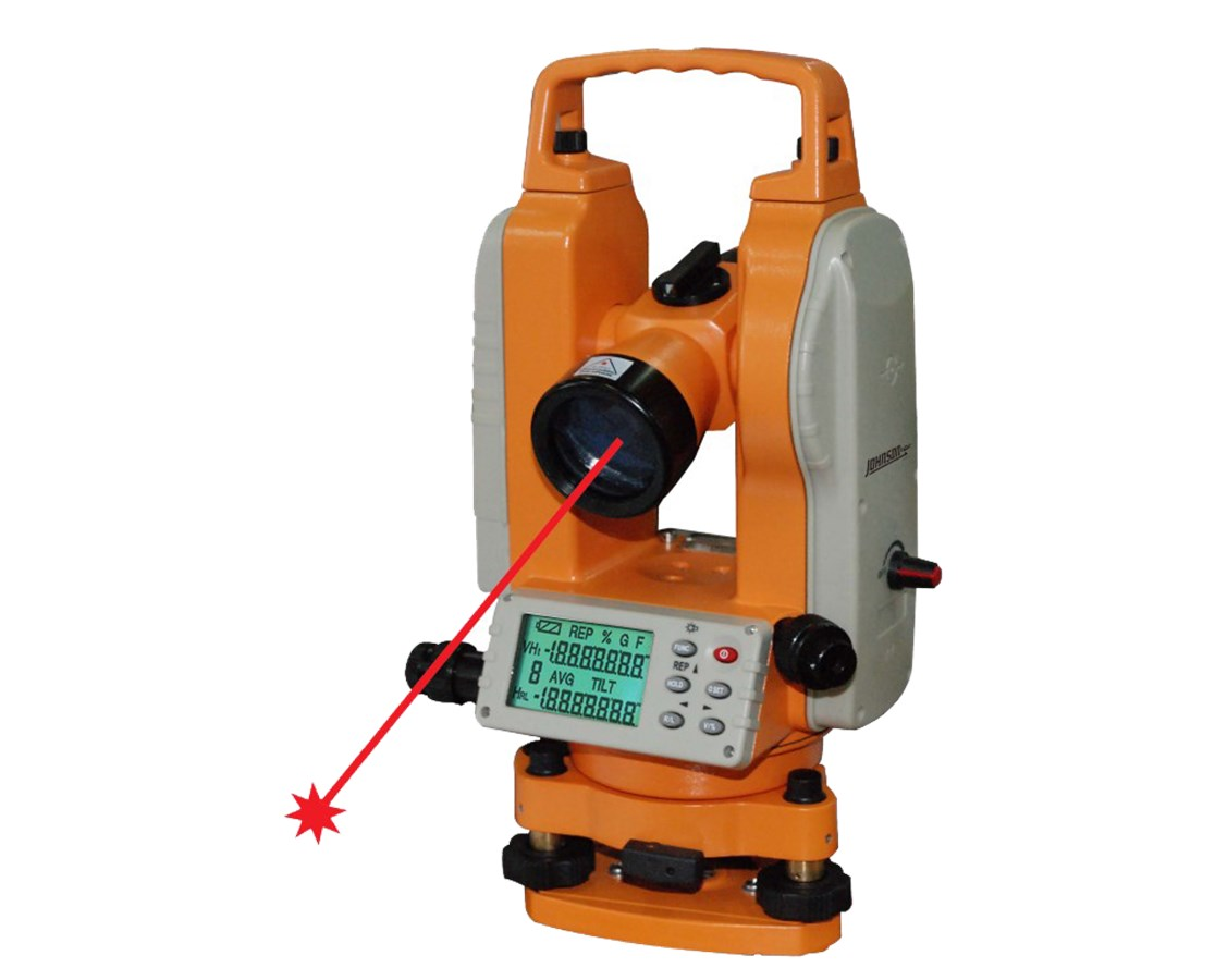 Johnson Level 5-Second Electronic Digital Theodolite with Laser JOH40-6936