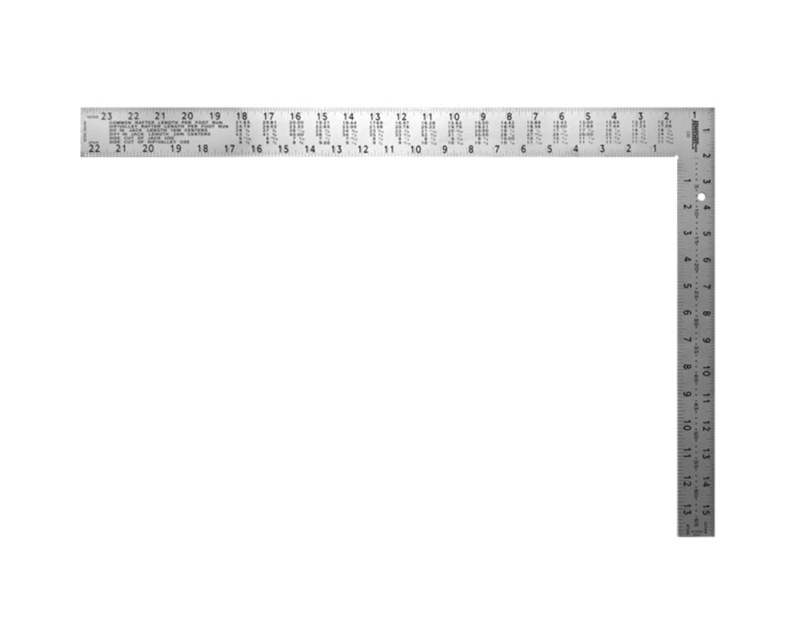 "Johnson Level 16"" x 24"" Professional Easy-Read Steel Framing Square JOHCS9"