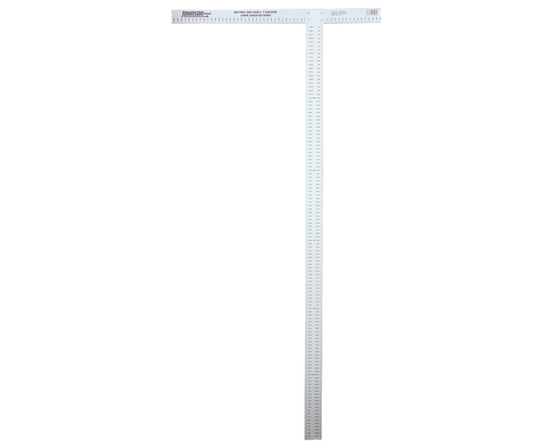 Johnson Level 1200mm Aluminum Metric Drywall T-Square JOHJTS1200