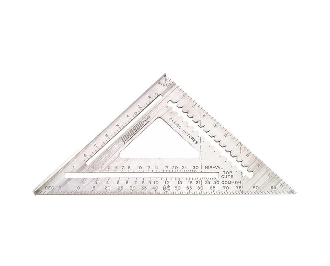 "Johnson Level 12"" Aluminum Rafter Angle Square JOHRAS-120"