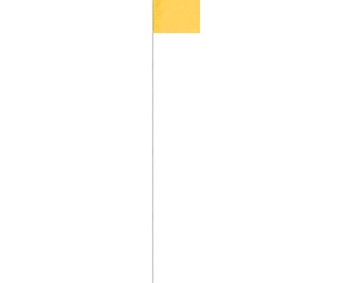 Keson STK21Y Surveyor Yellow Stake Flag (100 Pcs Per Bundle)