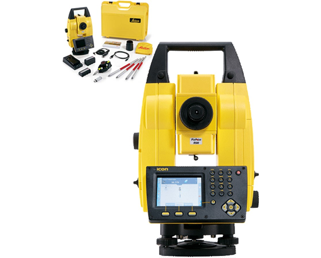 Leica iCON Builder Manual Total Station Kit LEI6008669-