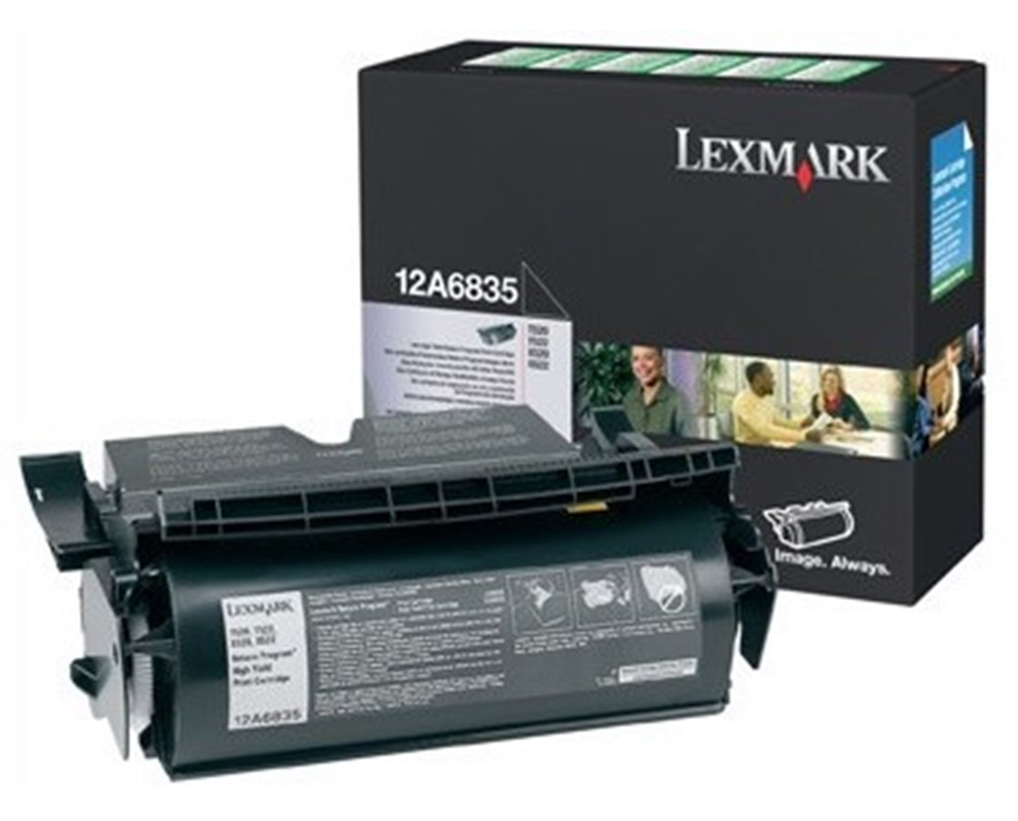 T520 & T522 High Yield Return Program Toner Cartridge LEX12A6835