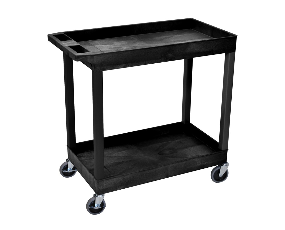 "Luxor 32"" W x 18"" D Tub Cart with Two Shelves LUXEC11"
