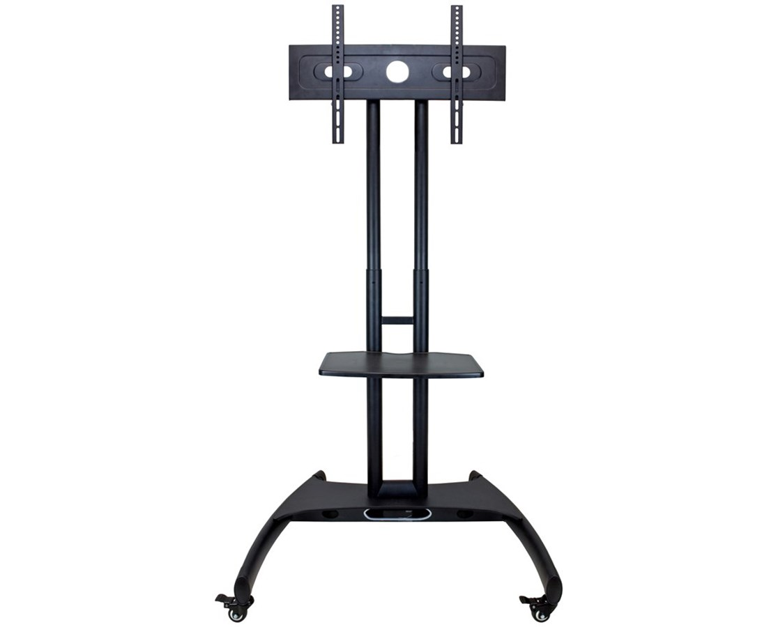 Luxor Adjustable Height LCD TV Stand with Mount and Shelf LUXFP2500