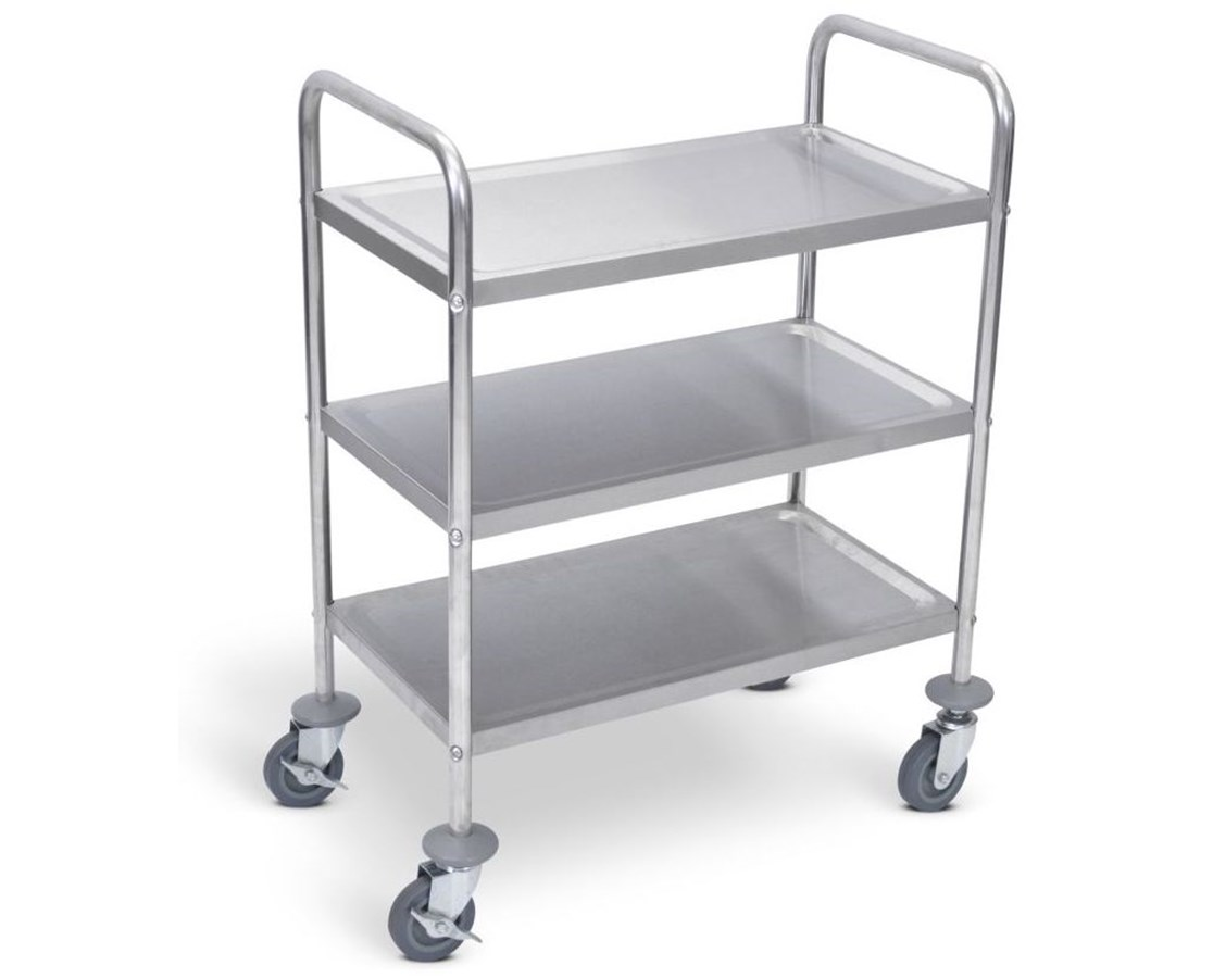 Luxor Stainless Steel Utility Cart LUXL100S3