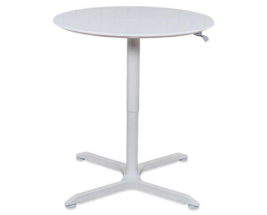 Luxor Pneumatic Height Adjustable Café Table LUXLX-PNADJ-32RD-