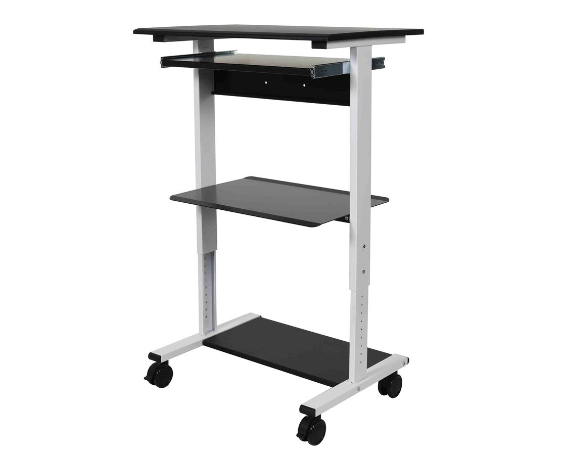 Luxor Three Shelf Adjustable Stand Up Workstation LUXSTAND-WS30