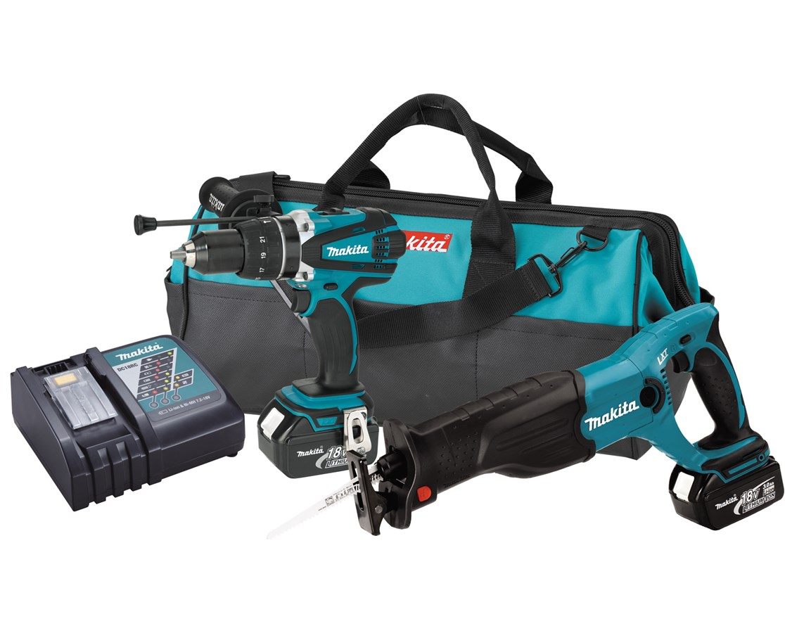 Makita LXT224 18V LXT Lithium-Ion Cordless 2-Pc. Combo Kit MAKLXT224