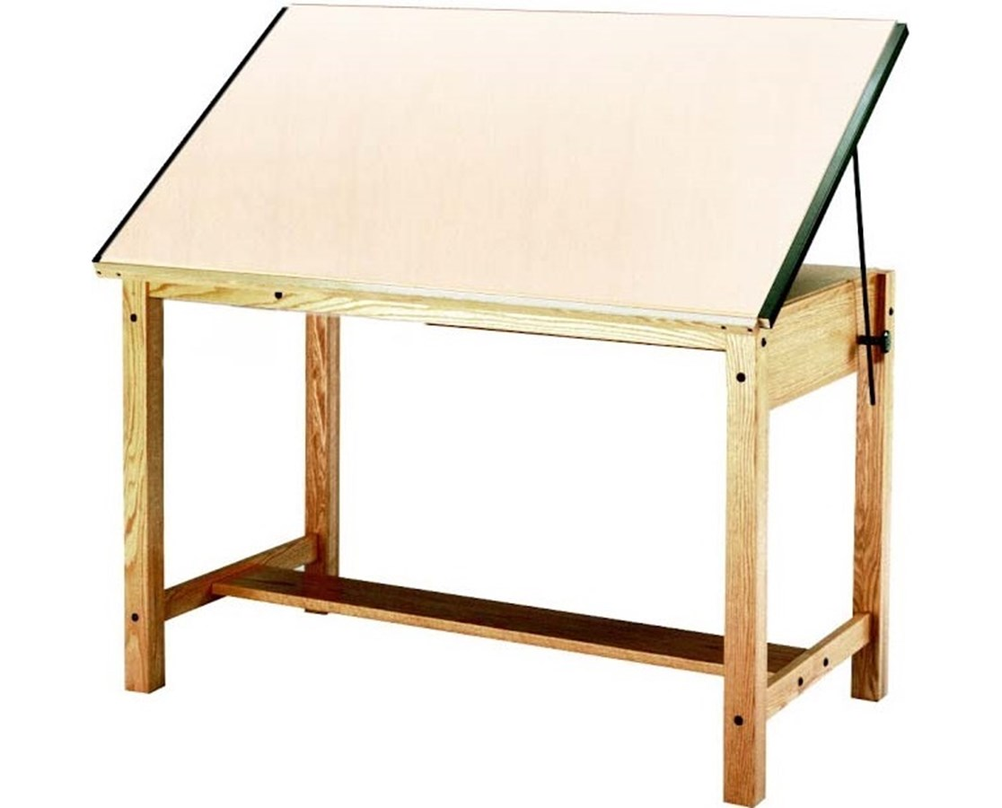 Mayline Wood 4-Post Drafting Table MAY7706-
