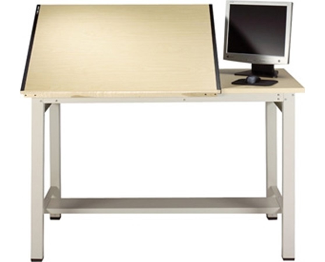 Mayline Ranger Steel 4 Post Split Top Drafting Table MAY7772