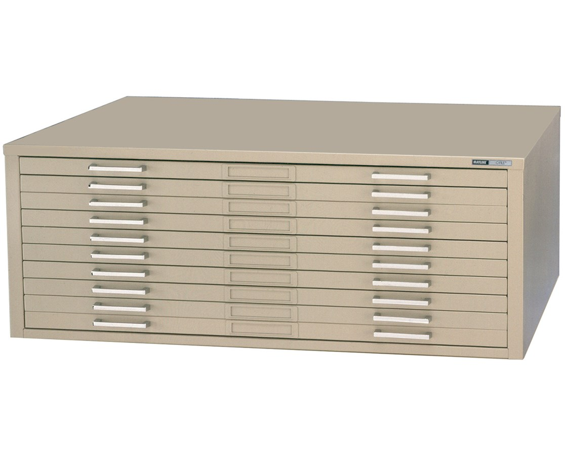 Mayline C-File 10-Drawer Steel Flat File MAY7977C-