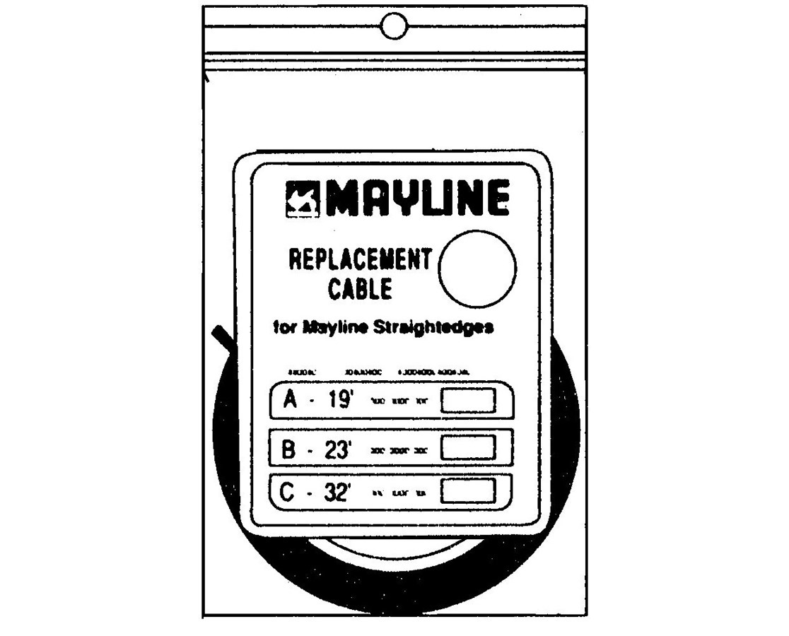 Mayline 7 x 7 Lubricated Stainless Steel Cable with Nylon Coating Straightedge Drawing Accessory MAY7355A