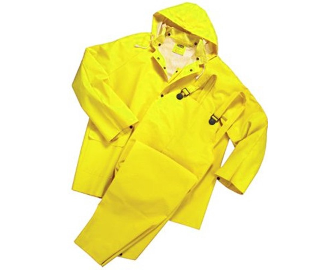 Mutual Industries 3-piece PVC / Polyester Rain Suit MUT14505-0-1-