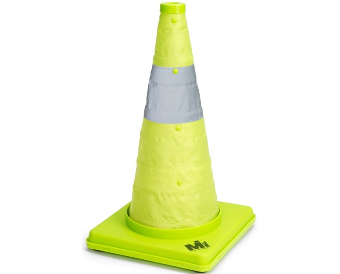 Mutual Industries Deluxe Lime Collapsible Traffic Cone MUT17712-1-18-