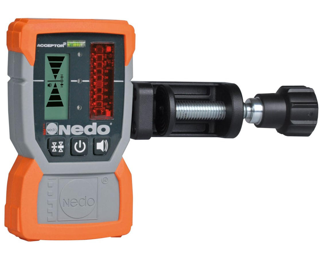 Nedo Acceptor2 Laser Receiver with Rod Clamp NED430334