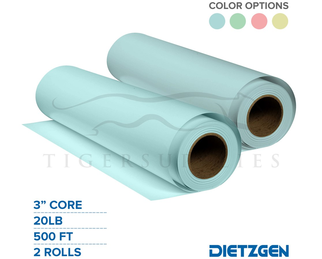 "Dietzgen Tinted Engineering Bond Paper, 20 lb, 3"" Core, 500ft. Rolls PAPD432BC24L-"