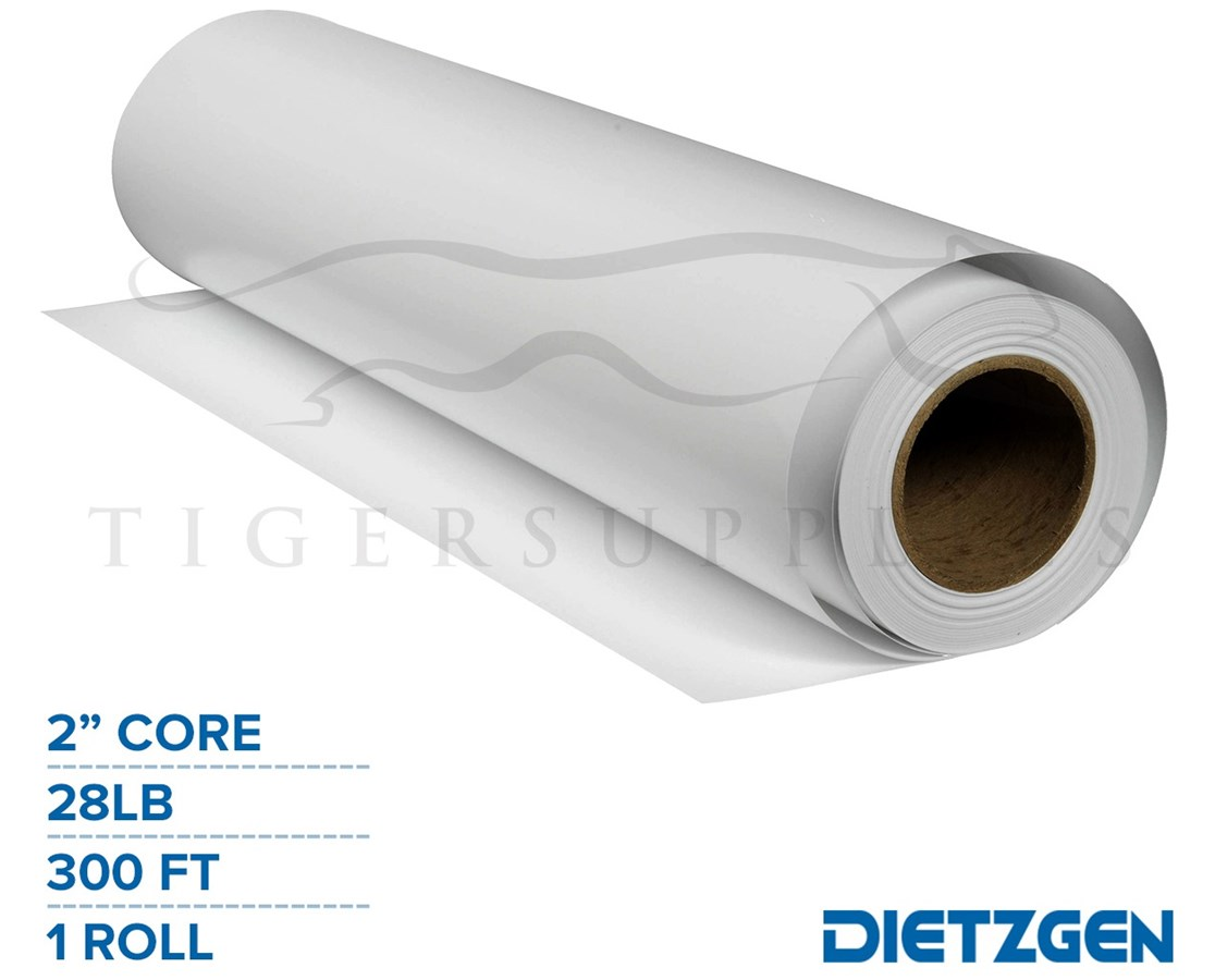 "Dietzgen Simple Inkjet Paper C2S, 28 lb, 2""/3"" Core, 300ft. Roll PAPD448360-"