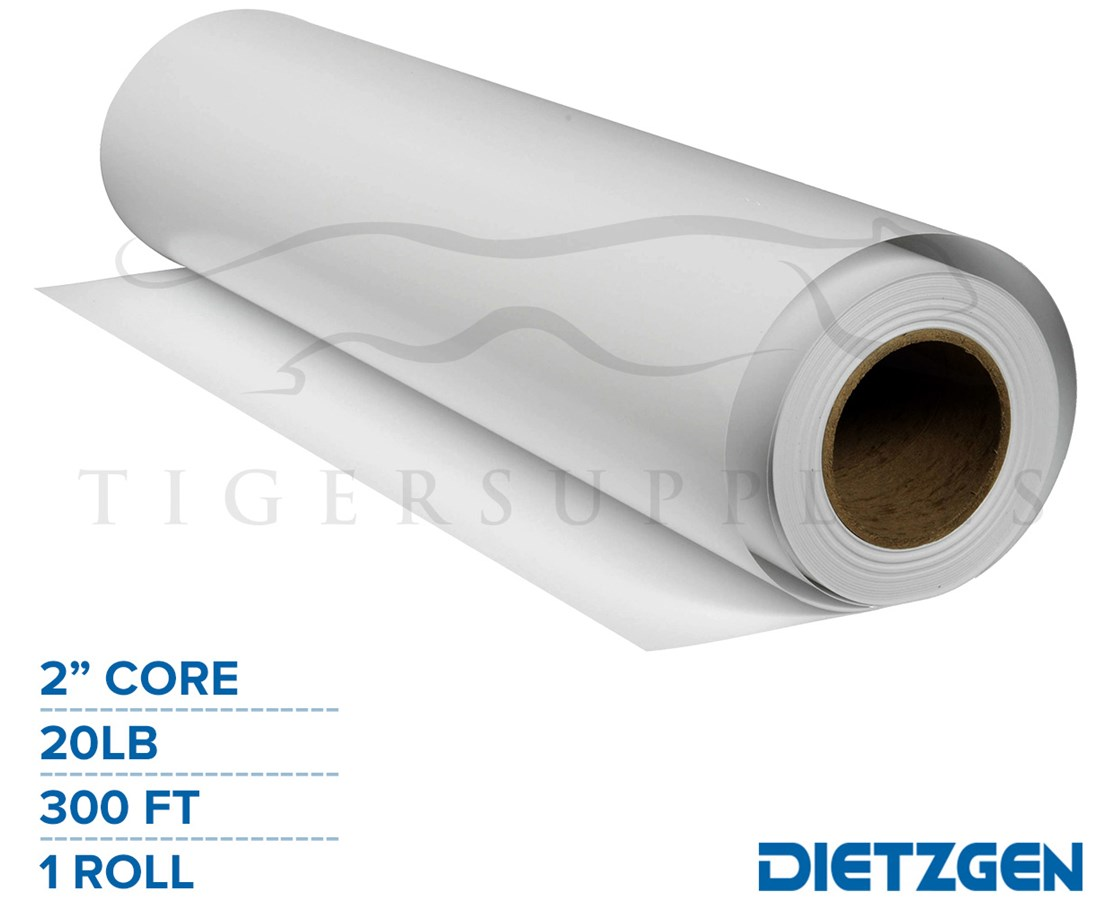 "Dietzgen Recycled Inkjet Bond Paper, 20 lb, 2"" Core, 300ft. Roll PAPD733360"
